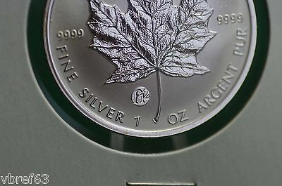 2007 CANADA $5 F12 Privy Mark Silver Maple Leaf 1 oz Reverse proof