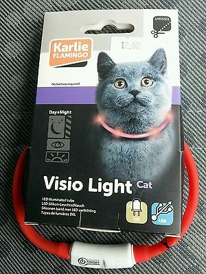 Collier chat Visio Light jour et nuit Karlie Flamingo neuf