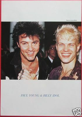 Billy Idol & Paul Young Andrew Ridgeley Wham! 1986 Clipping Japan Magazine Rs 1A