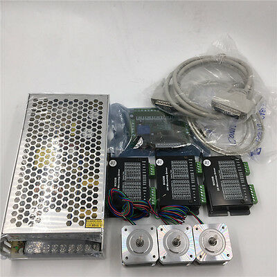 3Axis Stepper Motor Nema17 L34mm Kit+Power Supply+5Axis Breakout Board CNC Route