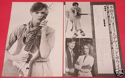 David Bowie 1978 Clippings Japan Magazine Rs 3A 2Page