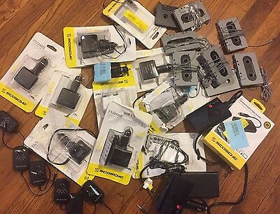 Lot Scosche FM Transmitters Power Invertor Cassette Adapter Charger UNTESTED