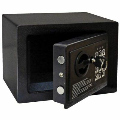 Bolero Mini Hotel Safe Black Steel Weight 3Kg Room Security 2X Override Keys