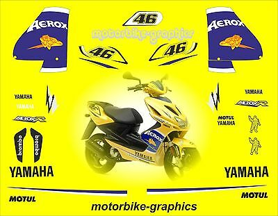 Aerox Rossi Camel Scooter Full decal sticker set