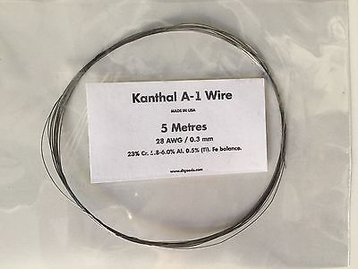 KANTHAL A1 RESISTANCE WIRE 28 AWG / 0.3 MM - 2 Metres -