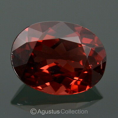 4.05 cts Red Pyrope GARNET Oval Facet-Cut Clean Natural Gemstone Mozambique
