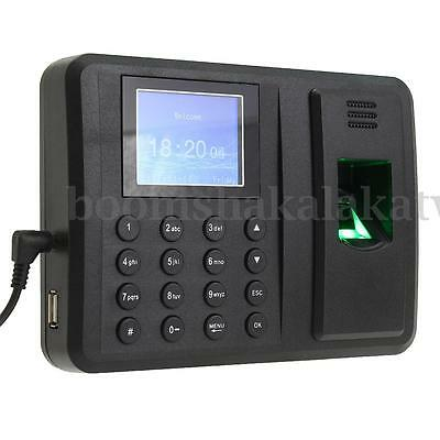 USB Password Fingerprint Attendance Employee Payroll Salary Time Recorder Clock