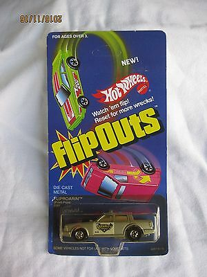 Hotwheels Vintage Rare 1985 FlipOuts Fliproarin Mint In Long Card
