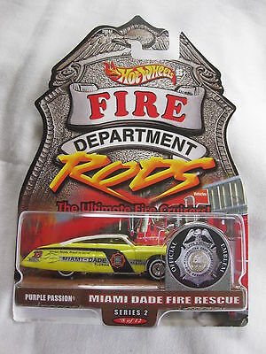 Hotwheels Rare Fire Rods Series 2, 8 of 12 Purple Passion,Mint On Card