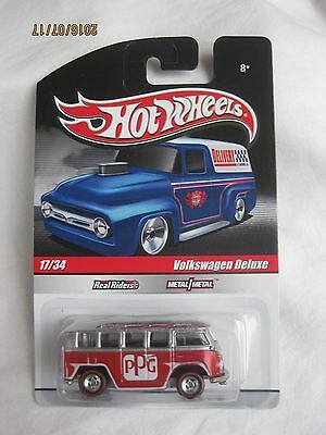 Hotwheels Rare Delivery Volkswagen Deluxe, Real Rider Redlines, Mint On Card