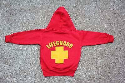 ST IVES Red Yellow LIFEGUARD Hoody Age 1-2 St.Ives Life Guard Hoodie Boys