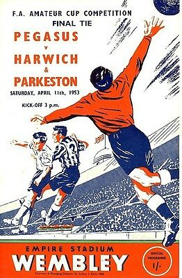 FA AMATEUR CUP FINAL 1953 Pegasus v Harwich & Parkeston