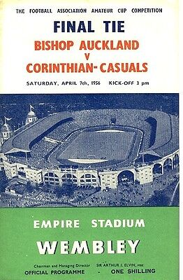 FA AMATEUR CUP FINAL 1956: Bishop Auckland v Corinthian