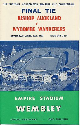 FA AMATEUR CUP FINAL 1957: Bishop Auckland v Wycombe