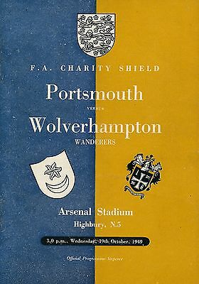 FA CHARITY SHIELD PROGRAMME 1949: Portsmouth v Wolves @ Arsenal
