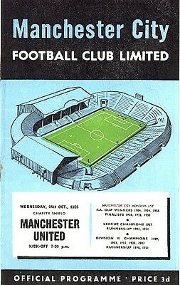 FA CHARITY SHIELD PROGRAMME 1956: Manchester City v Man Utd incl TOKEN