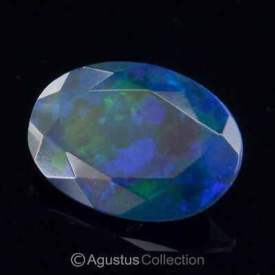 1.03 cts Black WELO OPAL Multicolor Ethiopia Oval Facet-cut Natural Gemstone