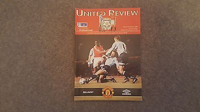 MANCHESTER UNITED v MIDDLESBROUGH FA CUP 3rd ROUND 98-99 TREBLE YEAR. MINT. 7th