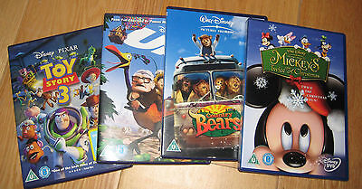 4x Disney DVDs, UP, Mickys Christmas,Country Bears,Toy Story 3