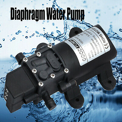 DC 12V High Pressure Micro Diaphragm Water Pump Automatic Switch 130PSI 4.8L/min
