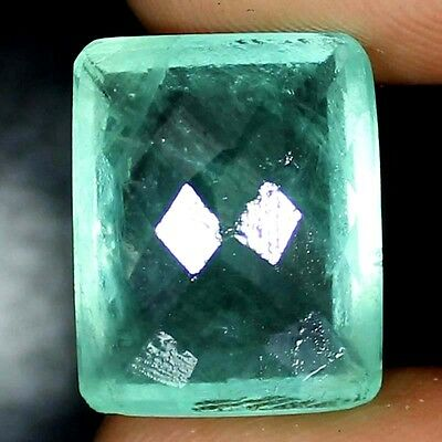 ~UNTREATED~ 34.70 CTs 100% Natural GREEN FLUORITE Precious Octagon Cut Gemstone