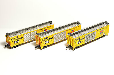 N Scale - Railbox Runner Pack - Set Of 3 - Good Cond- Worth A Look