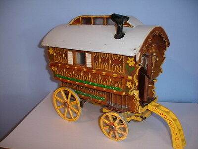 Scale Model Gypsy Caravan Model - Hand Built Well Made Detailed
