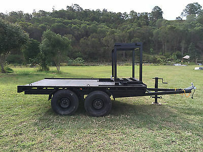 12ft Posi Track Trailer 3.0 Tonne Tandem Axle with accessories frame