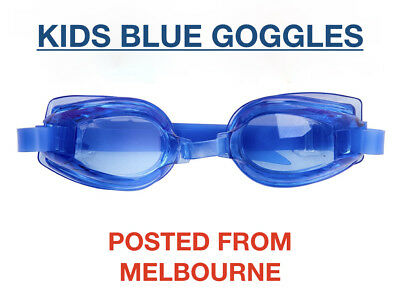 Kids Blue Swimming Goggles Boys Adjustable Anti Fog UV Protection Swim Glasses
