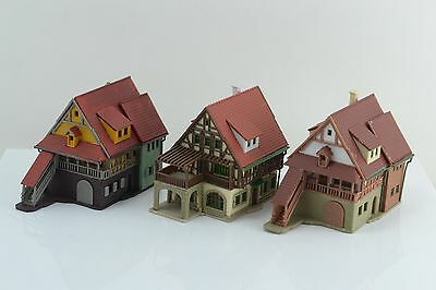 Vollmer 3 Half Timber Houses Built Up Z Scale (Z2)