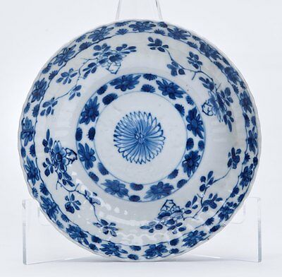 Fine Antique Chinese Kangxi Blue & White Saucer 17/18Th C.