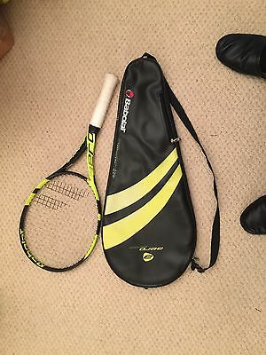 Babolat Aero tennis racket with case, newly strung, used just 4 times