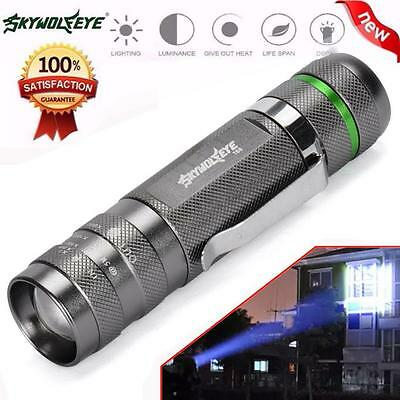Zoomable 3000LM CREE XM-L T6 LED 18650 Battery Bright Flashlight Torch Light UK