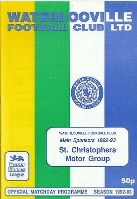 Waterlooville V Chelmsford City - Beazer Homes League - 8/9/92