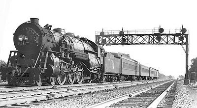 Central Railroad of New Jersey #821 4-6-2 at Glenmoore - Orig. B&W CNJ Negative