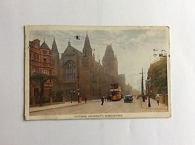 Victoria University Manchester Card From 1916