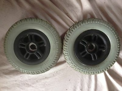 TESTED SPARE PART 2 Rear Wheels+solid Tyres FREERIDER ASCOT Mobility Scooter