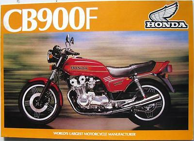 HONDA CB900F Motorcycle Sales Brochure 1981