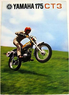 YAMAHA 175 CT3 Motorcycle Sales Brochure c1973 #LIT-01011-175400-00