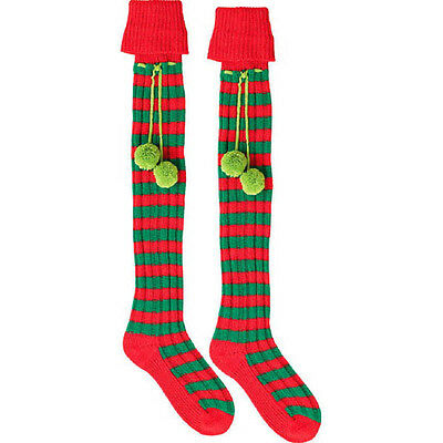 Adult's Christmas Party Elf Boot socks Fancy Dress Costume Accessory