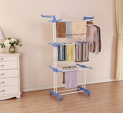 FoxHunter Foldable 3 Layer Clothes Airer Hanger Dryer Stand Rack Indoor FA03 New