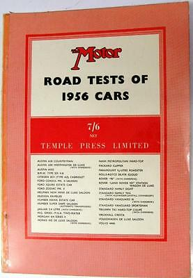 THE MOTOR Road Tests of 1956 Cars AUSTIN, FORD, HUMBER, ROVER, STANDARD etc