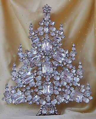 Unique Christmas tree - Czech rhinestones - Hand made