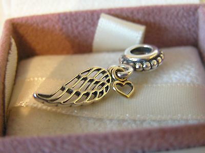 Sterling Silver Love and Guidance Angel Wing Charm  Pandora Box Option