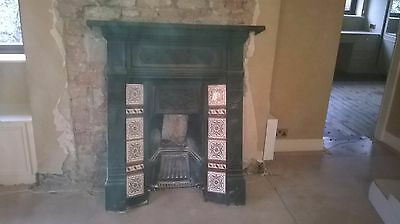 beautiful victorian cast iron fireplace with tile insert