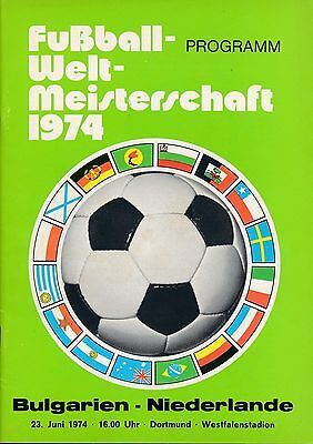 WORLD CUP 1974 Bulgaria v Holland - Official programme
