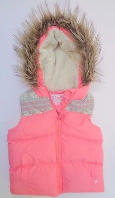 Young Dimension Girls Infant Sleeveless Winter Jacket With Hoodie 2-3 years
