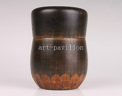 Wood Carving Unique Art Collection Tea Caddy Box Collectable  Decoration