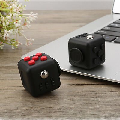 Squeeze Fun Stress Reliever Fidget Cube Spin Toys Xmas Gifts For Children Adults