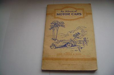 An Album Of Motor Cars Album & Cards Complete By John Player & Sons